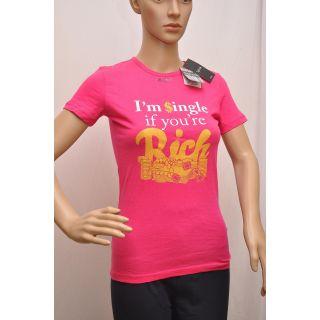 T Shirt Splash Brand Womens Pink  Size S