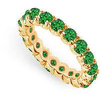 Lovebrightjewelry 14K Yellow Gold & Emerald Eternity Band-2.00 Ct