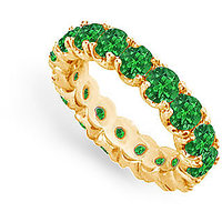 Lovebrightjewelry 14K Yellow Gold & Emerald Eternity Band-3.00 Ct