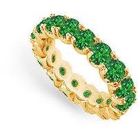 Lovebrightjewelry 14K Yellow Gold & Emerald Eternity Band-4.00 Ct