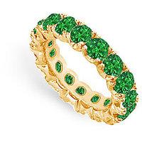 Lovebrightjewelry 14K Yellow Gold & Emerald Eternity Band-5.00 Ct