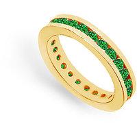 Lovebrightjewelry 14K Yellow Gold & Emerald Eternity Band 1.00 Ct