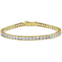 LoveBrightJewelry 18K Yellow Gold & Diamond Tennis Bracelet