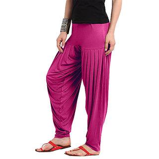 Softwear Fuschia Pink Patiyala Pant (free Size)