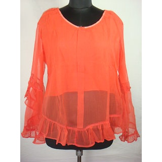 Excellent Offer ! Brand New  Chiffon Lining Top   Looking Hot And Sexy Top Style