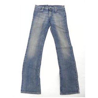 Benetton-Stylish Light Blue Loose Fit Jeans