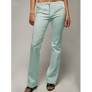 Versace-Modish Sky Blue Linen Regular Fit Trouser