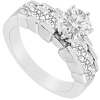 Semi Mount Engagement Ring In 14K White Gold With 0.50 CT Diamonds