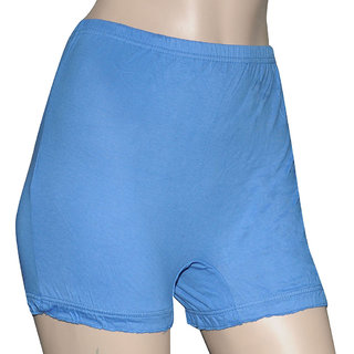 Poliss Light Blue Plain Shorts
