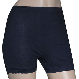 Poliss Blue Plain Shorts
