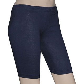 Poliss Navy Blue Tight Shorts