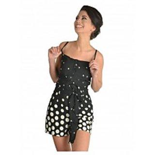 Black Polka Dot Short Jumpsuit