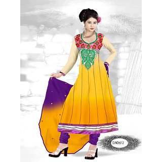 Geogette Anarkali With Inner Bottom And Duppatta