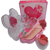 Kiss Beauty Makeup Kit With Eyeshadow Blusher Powder Lipgloss (8795)