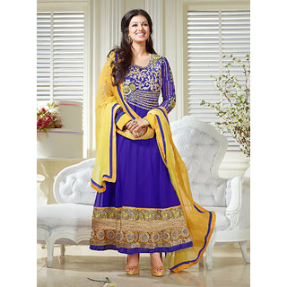 New Collection By Ayesha Takia In Blue Designer Anarkali Suit