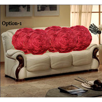 Set Of 5 Romantic Rose Cushion Covers - 7 Color Options