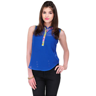 Yepme Cyra Ruffle Top - Blue
