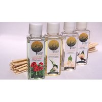 Reed Diffuser Refill 50ml. Bottles, Set Of 4 With 24 Sticks