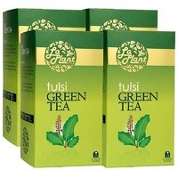 LaPlant Tulsi Green Tea - 100 Tea Bags (Combo Of 4)