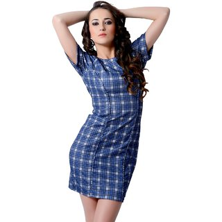 Trendy Divva Drs13115 Blue Dress