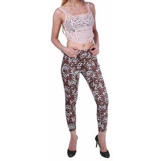 Leopard Cherry Print Cotton Jegging