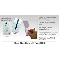 Sleek Note Book With Pen, Set Of 2 (Also For Car Use)