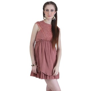 Dress With Frill & Lace Detail