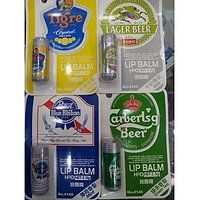 Beer Lip Balm Lemon,Milk,Mint & Green Tea Set Of 2pcs Assorted
