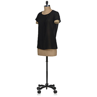Stylish Black Round Neck Top