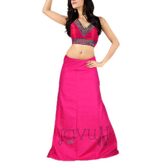 Javuli 100% Pure Cotton 7 Part Saree Petticoat / Inskirt - Pink