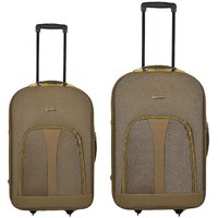 Panther Expandable Trolley Case - Combo Of 2 - Golden Color