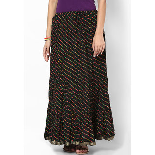 Rajasthani Sarees Chic Cotton Lehariya Printed Long Skirt