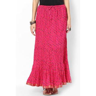 Rajasthani Sarees Classic Cotton Lehariya Printed Long Skirt