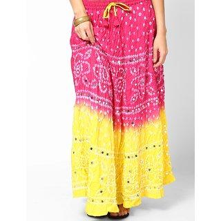 Rajasthani Sarees Classy Cotton Bandhej Hand Work Skirt