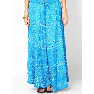 Rajasthani Sarees Pretty Cotton Bandhej Hand Work Skirt