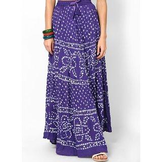 Rajasthani Sarees Voguish Cotton Bandhej Hand Work Skirt