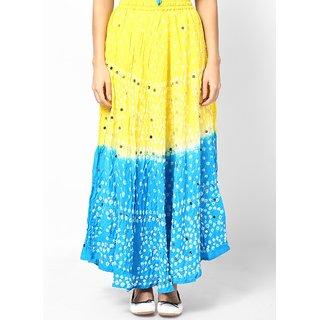 Rajasthani Sarees Trendy Cotton Bandhej Hand Work Skirt