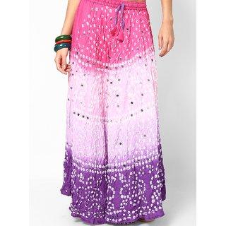 Rajasthani Sarees Classic Jaipuri Bandhej Cotton Skirt