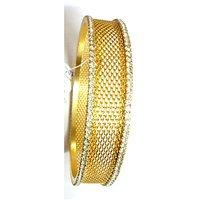 Gold Plated Kada Studded With American Diamonds (Size 2.10) - 1 Pc