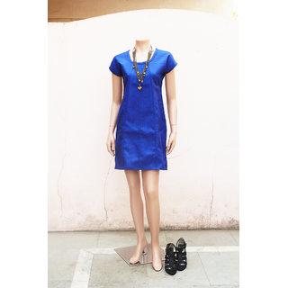 Classy Royal Blue Color Jute Dress