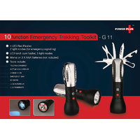 Emergency Trekking Toolkit (9 Function With 5 Mode Torch & 2 Mode Flasher)