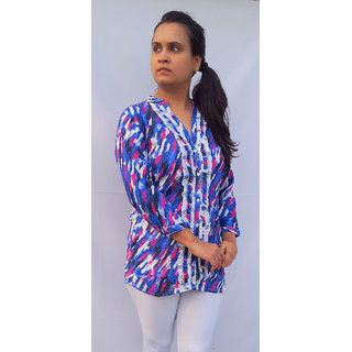 BPT Printed Rayon Top & Tunic In Shirt Style