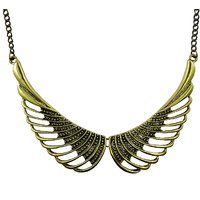 "Diovanni ""Tinker Belle Wings Of Fire"" Antique Bronze Necklace"