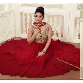 Gorgeous Attires Designer Maroon Georgette Anarkali Suit