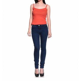 Madaam  Slim Fit  Blue Ladies Jeans