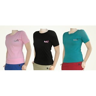 Combo Of 3 Girls T-Shirts Size Length 26 Inch Chest 34 Inch