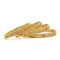Gold Plated Brass Bangle Set For Women