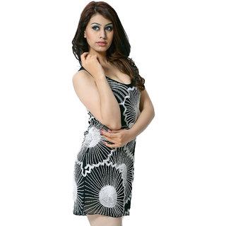 Trendy Divva T1167 Black & White Dress