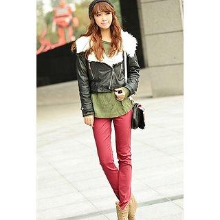 HI FASHION:Awesome Red Slim Elasticity Pant For Female.Best Option On This Rakhi