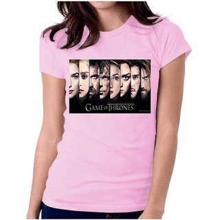 All Game Of Thrones Poster T-Shirt Pink Girls